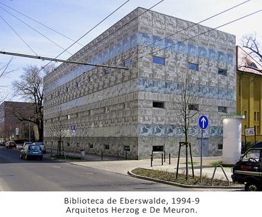 Biblioteca de Eberswalde. Herzog e De Meuron. 1993-7.